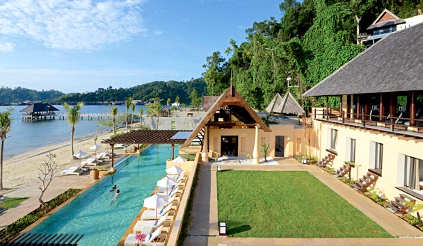 Gaya Island Resort: Exterior - Gardens and Pool