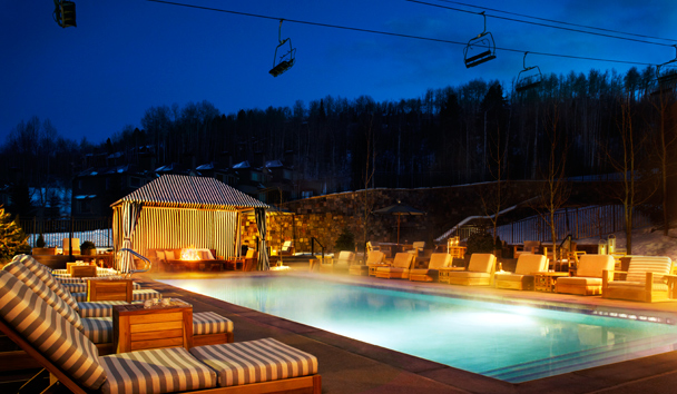 Viceroy Snowmass: Outdoor Pool at Evening